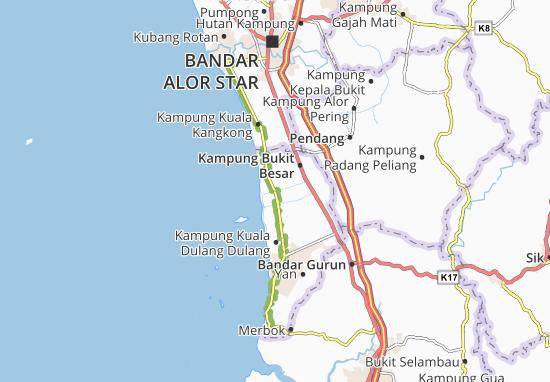 Kaart Plattegrond Kampung Sungai Daun Tengah