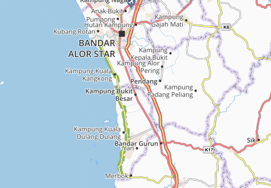 Mappe-Piantine Kampung Bukit Besar
