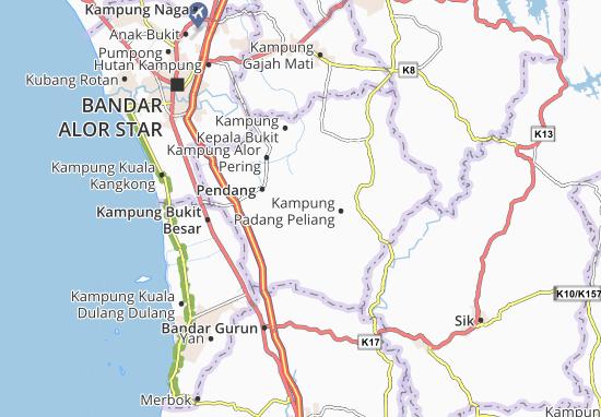 Kampung Padang Pusing Map