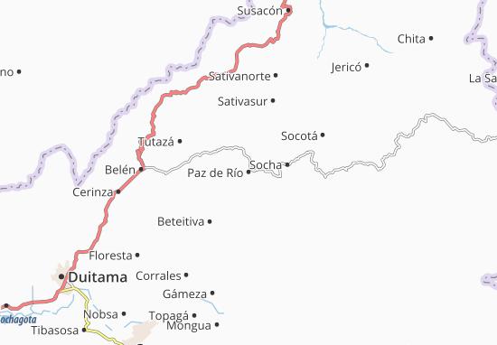 Carte-Plan Paz de Río