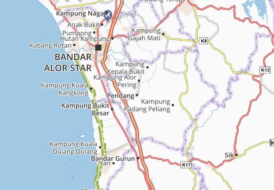 Carte-Plan Pendang