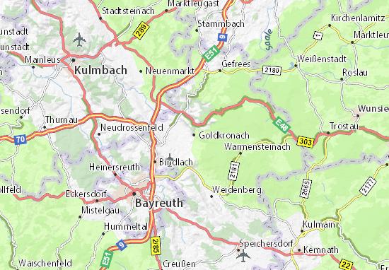 Carte-Plan Goldkronach