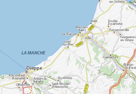 Criel-sur-Mer Map