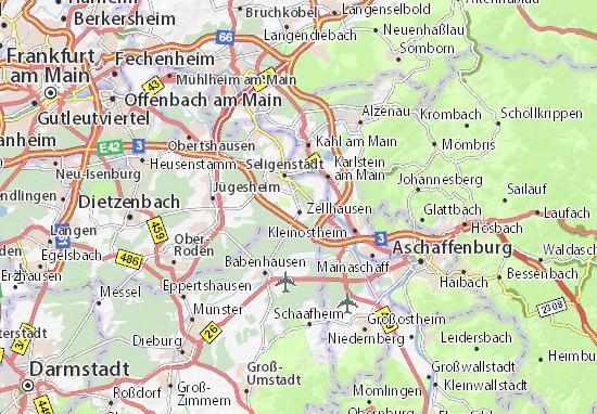 Karte Stadtplan Zellhausen