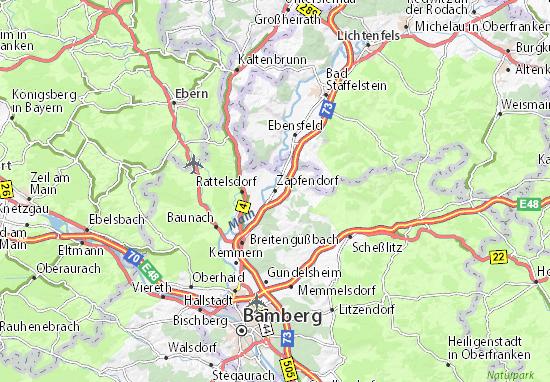 Carte-Plan Zapfendorf