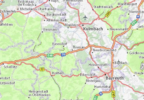 Karte Stadtplan Thurnau