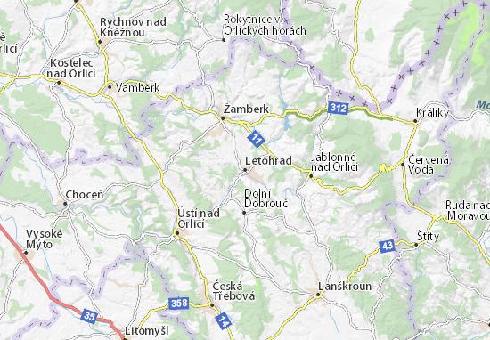 Kaart Plattegrond Letohrad