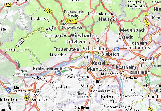 Mapa Plano Walluf