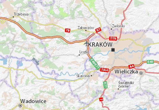 Mapa Liszki