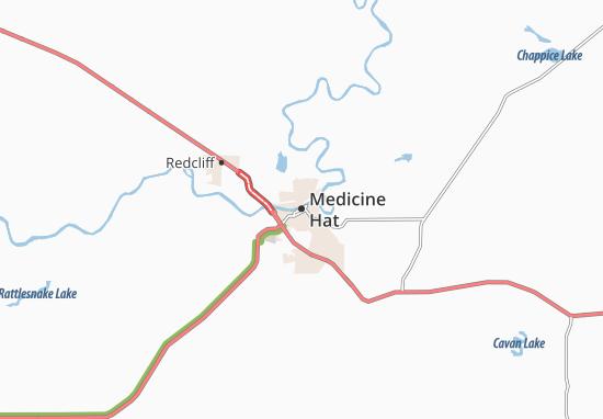 Medicine Hat Map
