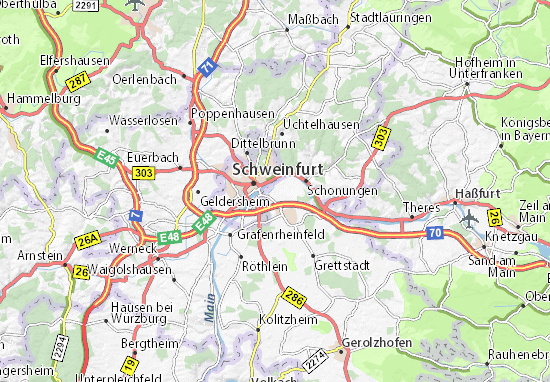 Carte-Plan Sennfeld