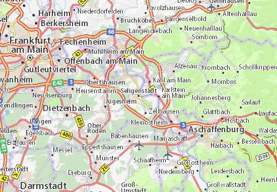 Karte Stadtplan Seligenstadt