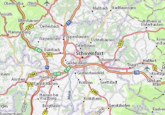 Karte Stadtplan Schweinfurt