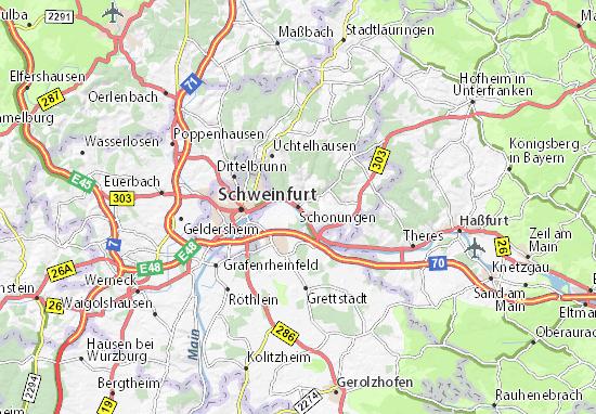 Karte Stadtplan Schonungen
