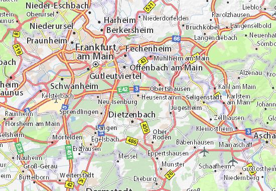 Karte Stadtplan Heusenstamm