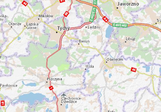 Karte Stadtplan Bojszowy