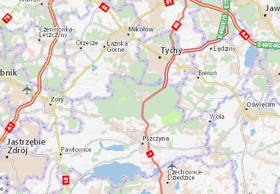 Karte Stadtplan Kobiór