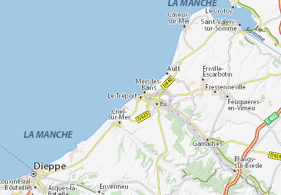 Map of le tr port michelin le tr port map viamichelin - Office du tourisme du treport ...
