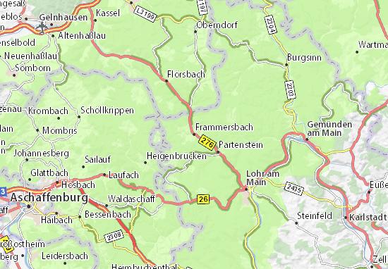 Carte-Plan Frammersbach