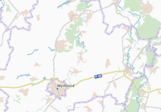Khomutets' Map