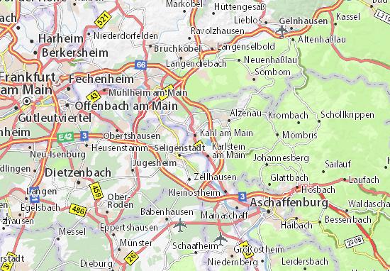 Karte Stadtplan Kahl am Main