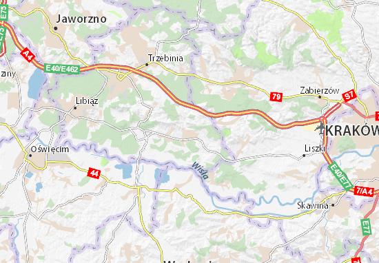 Mapa Alwernia
