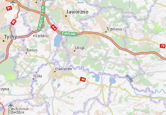 Karte Stadtplan Żarki