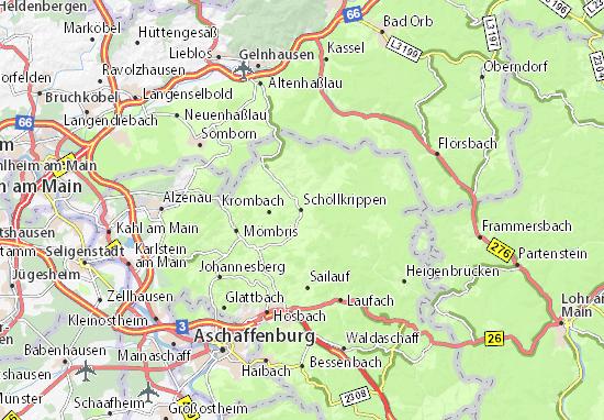 Carte-Plan Schöllkrippen