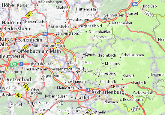 Karte Stadtplan Alzenau