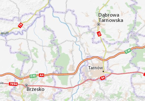 Mapa Radłów