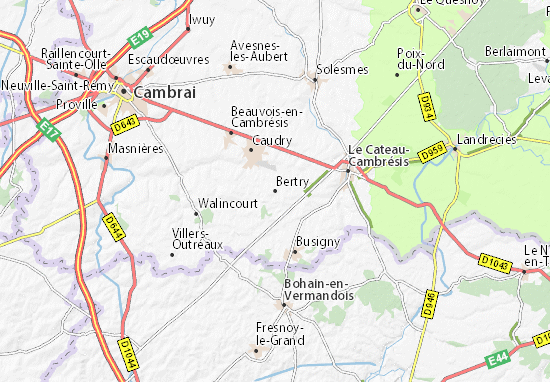 Kaart Plattegrond Bertry