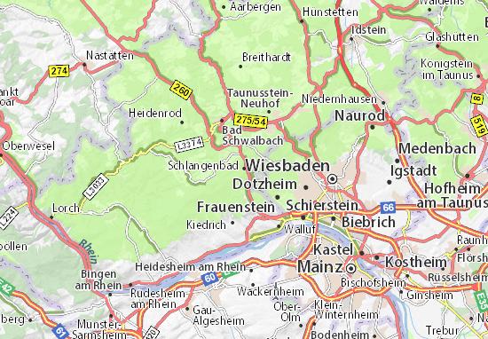 Karte Stadtplan Schlangenbad