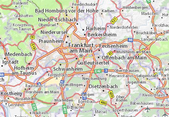 Karte stadtplan sachsenhausen viamichelin for Lampen neu isenburg