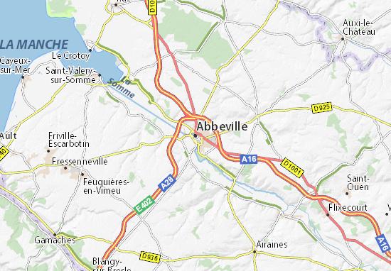 Kaart Plattegrond Abbeville