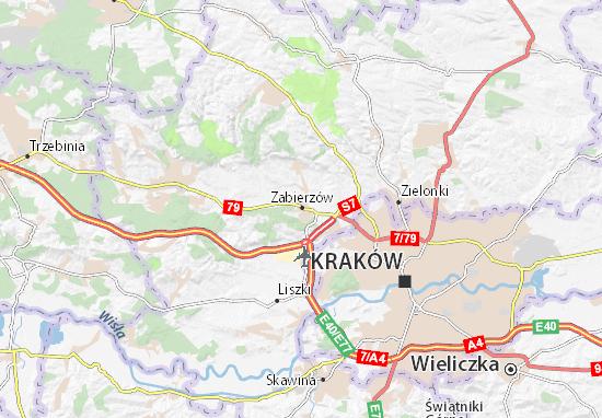 Mapa Zabierzów