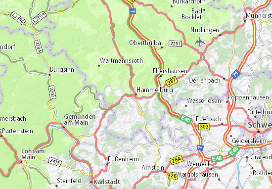 Carte-Plan Hammelburg
