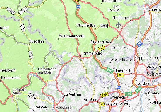 Karte Stadtplan Hammelburg