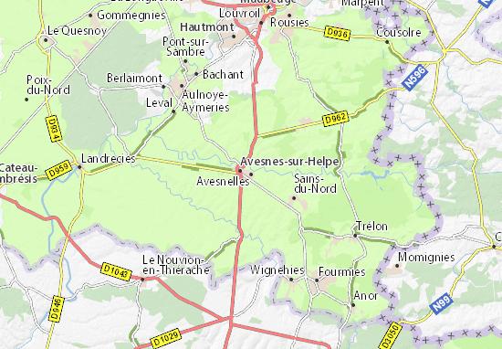 Kaart Plattegrond Avesnelles