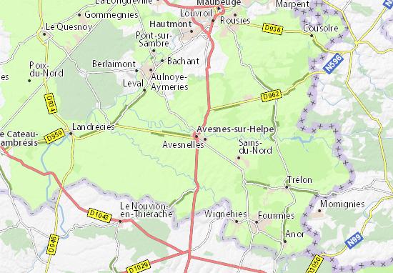 Mapas-Planos Avesnes-sur-Helpe