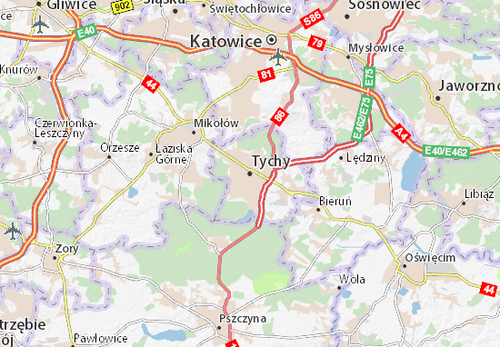 Carte-Plan Tychy