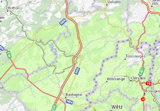 Carte-Plan Houffalize