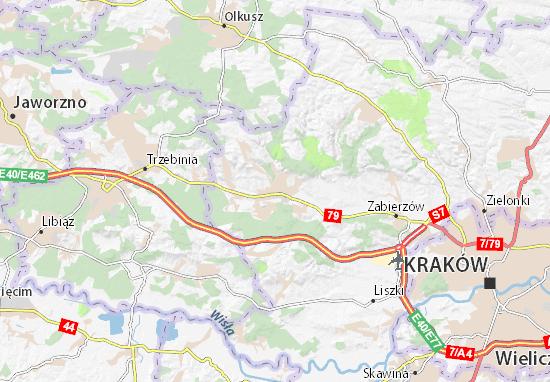 Mapa Krzeszowice