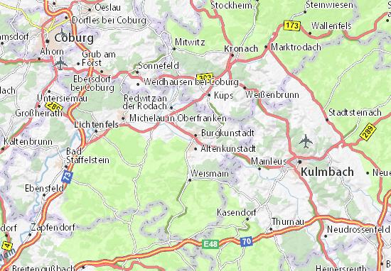 Carte-Plan Burgkunstadt