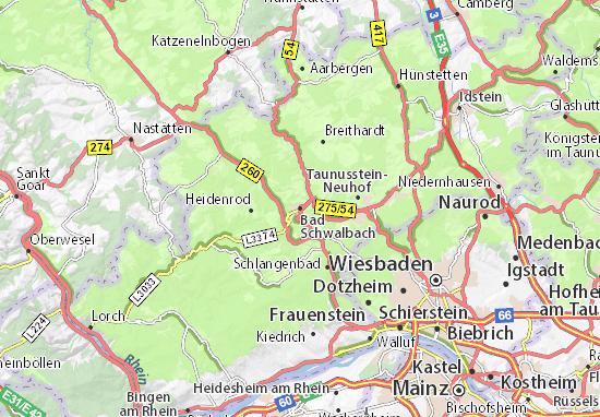Kaart Plattegrond Bad Schwalbach