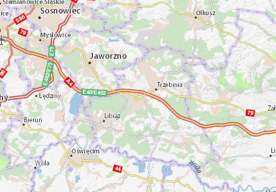 Karte Stadtplan Chrzanów