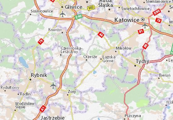Karte Stadtplan Orzesze