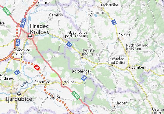 Carte-Plan Týniště nad Orlicí