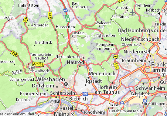 Carte-Plan Niedernhausen