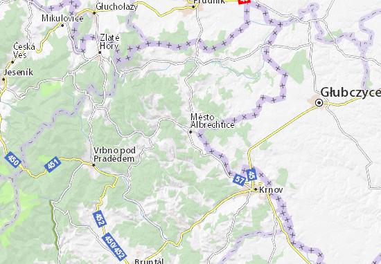 Carte-Plan Město Albrechtice