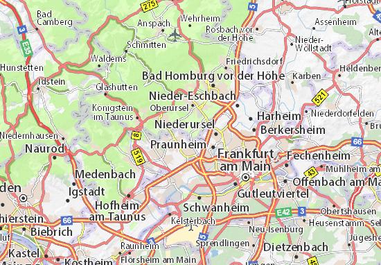 Karte Stadtplan Steinbach
